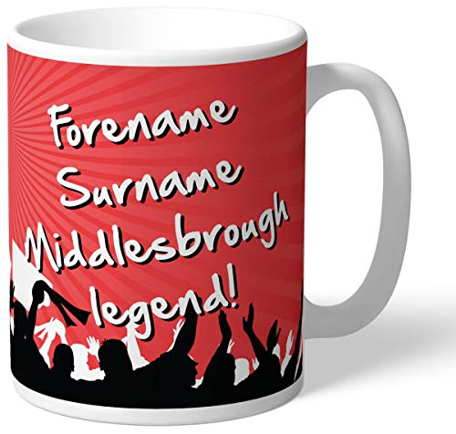 Middlesbrough FC Personalised Legend Mug