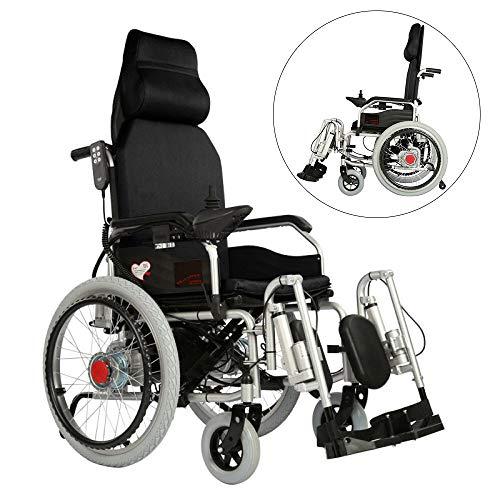 BQT elektrische rolstoel, persoonlijke walker met vier wielen, voor elektrisch voertuig, geschikt voor personen in de leeftijd, licht, inklapbaar, elektrisch, rolstoel, met universele controller, zwart