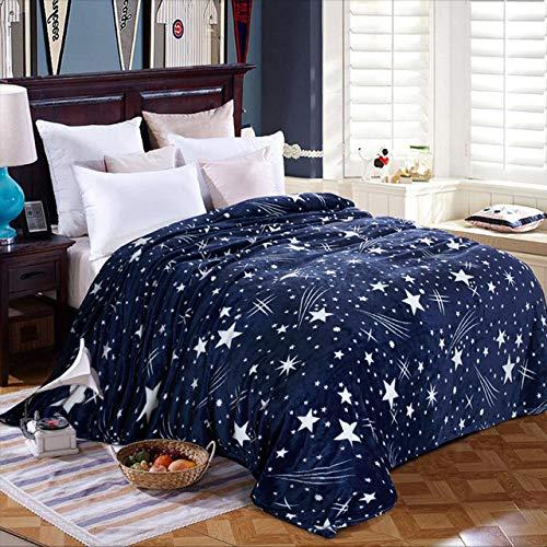 YOUZHA sterren universele deken gooien verdikke, verzonken zachte dekens flanel beddengoed pluche dekbed bedlaken sofa beddengoed dekens