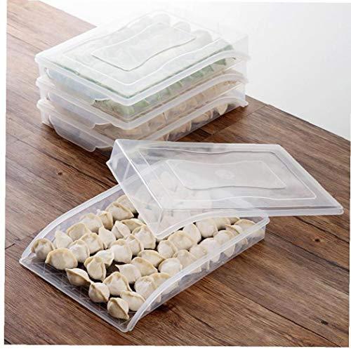 Caja De Almacenamiento De Masa Hervida Casa Cocina Congelado con La Tapa De Plástico del Organizador del Caso Refrigerador Alimentos Contenedores Holder