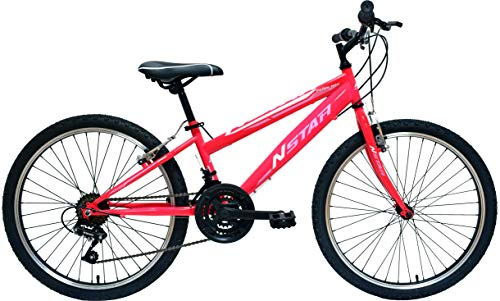"New Star peñalara Bicicleta BTT 24"", Niñas, Fucsia, m"