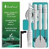 GadFull Batteria ad Alta Capacità compatibile con iPhone 7 | 2020 Data di produzione | incl. Set di riparazione manuale & Kit strumenti Profi | Nuova Batteria Cellulare Extra