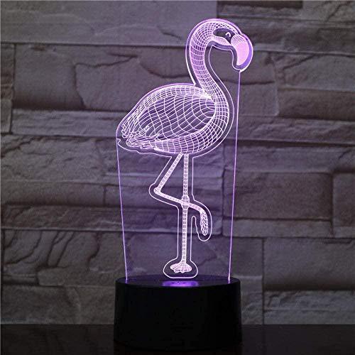 Lámpara De Ilusión 3D Luz De Noche Led Regalo De Halloween Luminaria Flamingo Power Bank Accesorios Luminaria De Mesa Aplique De Pared Inalámbrico