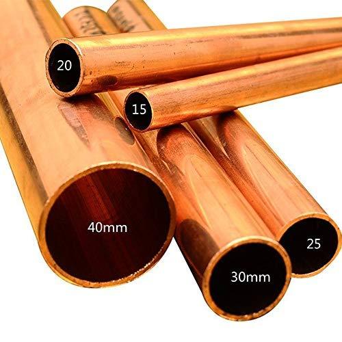 Kupferrohrschlauch, industrielles reines Kupferrohr, hart, gerades Rohr, Innendurchmesser 15/20/25/30/40mm, Stärke 1,0mm, Länge 300mm, I.D=20mm, 1