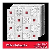 Kloxi 壁紙ウォールステッカーは、リビングルームのベッドルームをカバーする防水カビ証明レンガ造りの部屋の装飾壁を70x70cm3d DIY (Color : Red, Size : 70X35)