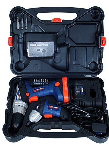 Ferm 18V Lithium Ion Cordless Drill Quick Charge + Free 3.6V Impact Driver
