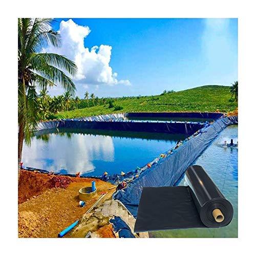 Gzhenh Pond Liner,Lona Impermeable Resistente Seguro para Peces Y Plantas. Resistente Al Frio Uso De Formas Irregulares Cascada del Patio Trasero Techo A Prueba De Fugas (Color : Black, Size : 5x5m)