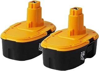 SHGEEN 2PACK 18V 3.0Ah DC9096 Ni-MH Replacement Battery for Dewalt 18V Battery DE9098 DE9503 DE9039 DE9095 DE9096 DW9096 D...