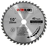 TCT25540T Saxton TCT Circular <span class='highlight'>Wood</span> Saw Blade 255mm x 30mm x bore x 40T for Bosch Makita <span class='highlight'>Dewalt</span>