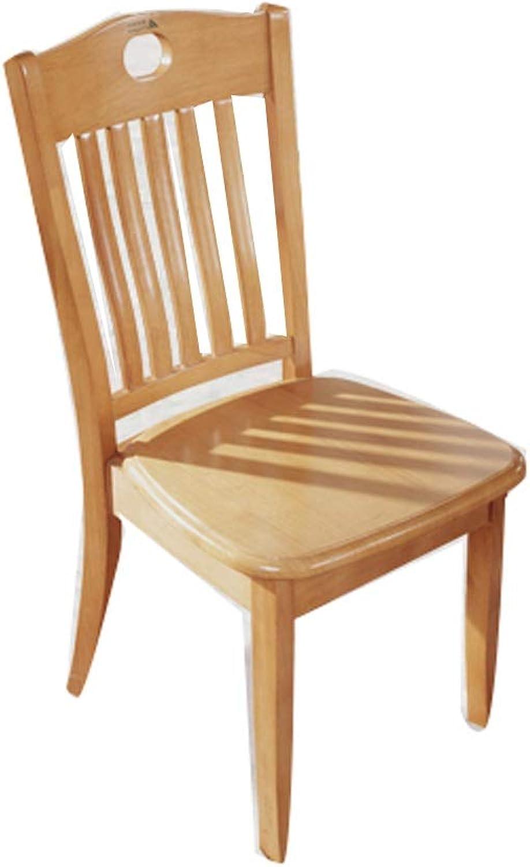 Barstool Solid Wood bar Chair with Back Home Modern Minimalist Desk Restaurant Reddish Brown Wood color 40  45  42cm (color   Wood)