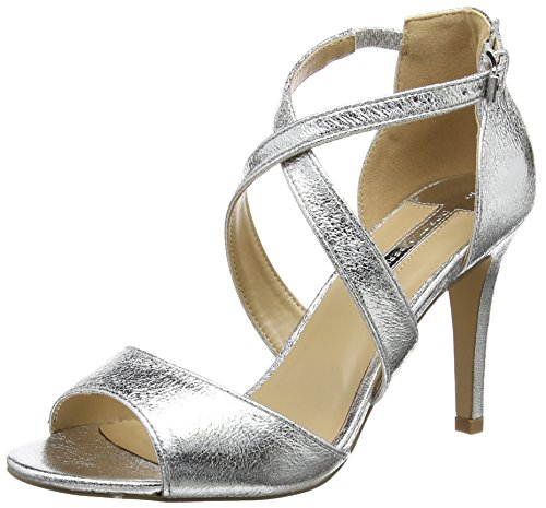 Dorothy Perkins Sasha, Escarpins Bout Ouvert Femme - Argent - Silver (Metallic), 38