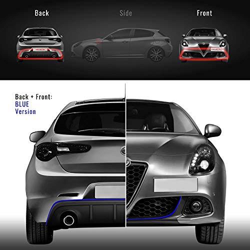 Preisvergleich Produktbild Quattroerre 31875 Profil Blau Aufkleber für Stoßstange Full vorne + hinten Alfa Giulietta mit doppelseitigem Klebeband 3M APT