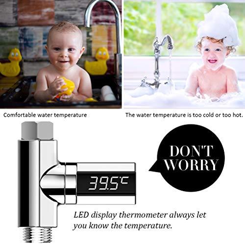 Thermomètre de bain Kenanlan, avec LED électronique...