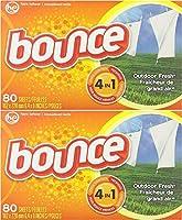 Bounce 織物柔軟剤シート、屋外の新鮮な香り、80枚(2パック)