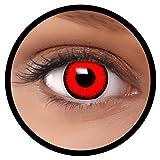 Farbige Kontaktlinsen rot Volturi MIT STÄRKE | Ideal für Halloween, Karneval, Fasching oder Fastnacht | Inklusive Behälter von FXEYEZ | In verschiedenen Stärken als 2er Pack -