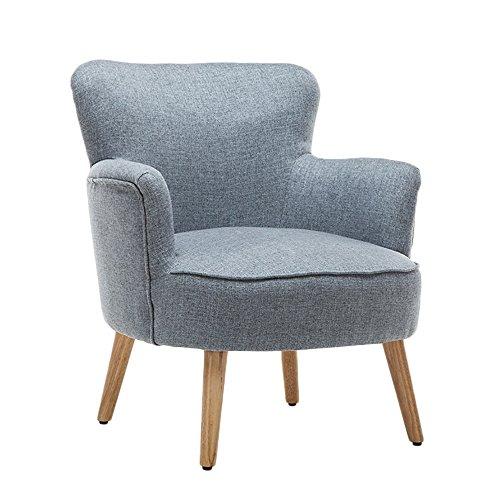 G-Y Canapé Paresseux, Canapé Simple En Bois Massif, Canapé D'ordinateur Chaise (lin) (Couleur : Gris)