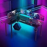 Dripex Gaming Tisch Gaming Schreibtisch Kohlefaseroberfläche Computertisch...