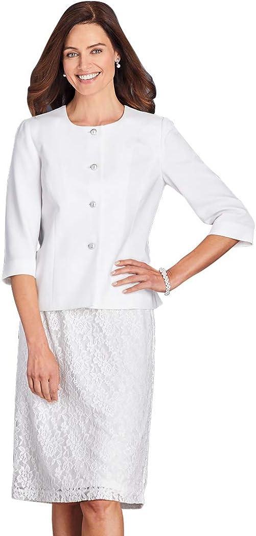 D. Vine Lace Suit White 20 Women