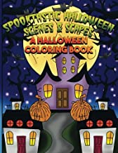 Spooktastic Scenes & Scapes: A Halloween Coloring Book: Full Sized Large Print Halloween Designs for Kids, Teens, Adults a...