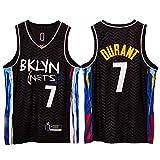 Camiseta de baloncesto Kevin Durant, Brooklyn Nets 7# para hombre, tejido transpirable, camiseta sin mangas, camiseta deportiva casual (S-XXL)
