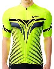 HIKENTURE Fietsshirt heren korte mouwen - [signaalkleur] - racefiets MTB shirt dames - opvallend fietsshirt voor mountainbike mannen - zichtbare fietskleding als MTB Cycling Jeresy Bike Shirt