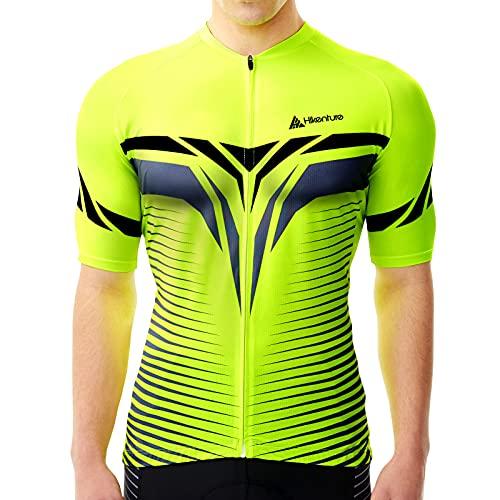 HIKENTURE Radtrikot Herren Kurzarm - [Signalfarbe] - Rennrad MTB Trikot Damen - Auffälliges Fahrrad Trikot für Mountainbike Männer - Sichtbare Fahrradbekleidung als MTB Cycling Jeresy Bike Shirt-07-S