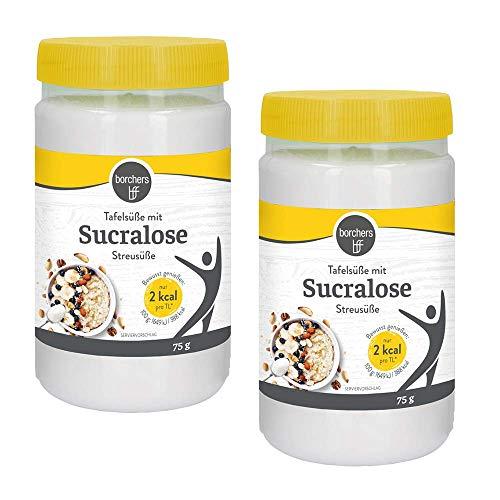 2 x borchers Sucralose Streusüße, Tafelsüße, Kochen und Backen, Zuckeralternative 75 g