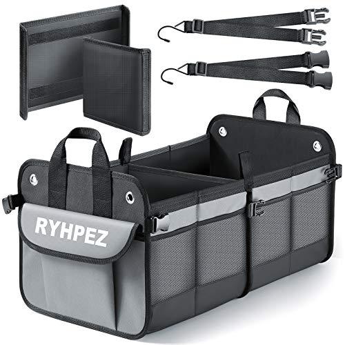 Ryhpez Car Trunk Organizer - Collapsible Car Organizer Trunk Storage with Pockets Bags, Portable Cargo Storage Box for SUV Sedan Auto