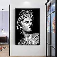 帆布の絵 額縁モジュラー抽象像白ハンサムキャンバス絵画モダンプリントポスター壁アートリビングルームフレームなし 50x70cm
