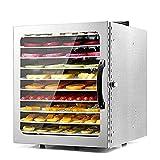ZHANGXJ Eléctrico 1000W Deshidratadores de Alimentos Professional 10 Pisos Deshidratador de Frutas y Verduras 30-90°C...