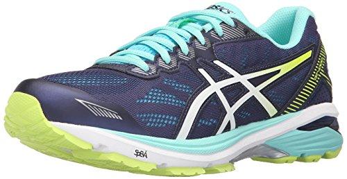 ASICS Zapatillas de running Gt-1000 5 para mujer, azul (blanco, amarillo, azul, blanco, índigo, (Indigo Blue/White/Safety Yellow)), 36