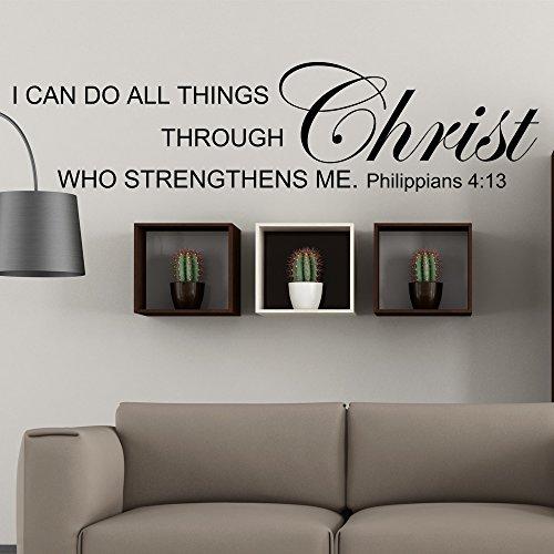 WallsUp Wandsticker Bibelvers Philipper 4:13, aus Vinyl 10