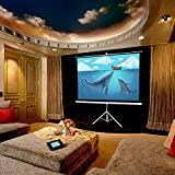 """Yescom Matte White 120"""" Portable Projector Screen 4:3 Foldable Projection Screen with Tripod"""