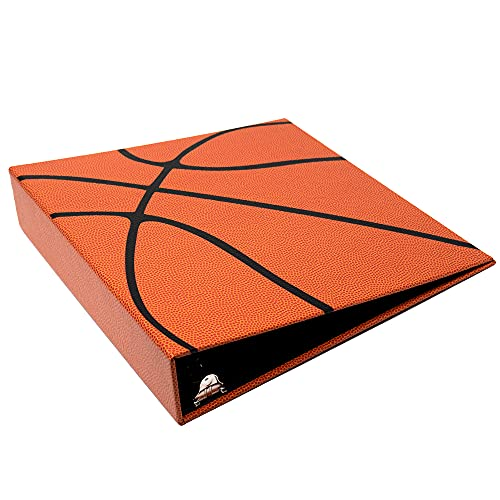 Hoopz 3-Ring Basketball Card Binder | Looks and Feels Like a Real Basketball | Premium Embossed Paper Basketball Card Protection Album with Patented Design