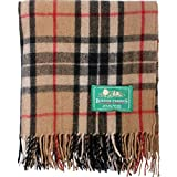 The Scotland Kilt Company Large Wool Tartan Scottish Throw Rug - Range of Tartans/Colours