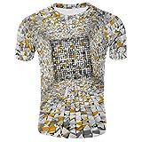 FRAUIT Maglia Uomo Manica Corta Sportiva Maglie Maniche Corte Slim Fit T Shirt Ragazzo Divertenti 3D Stampa Magliette Maglietta Uomini Spiaggia Mare Estiva Casual Camicia Camicie