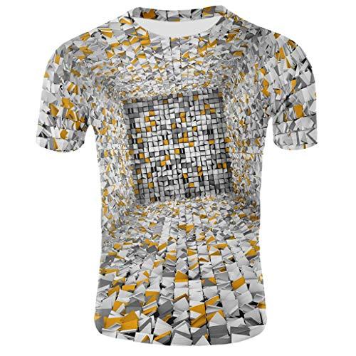Sylar Hombre 3D patrón Impreso Camisetas de Manga Corta Ver