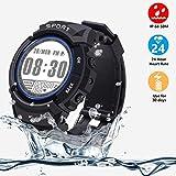 VIFLYKOO Smartwatch Fitness Uhr, Fitness Tracker Wasserdicht IP68 164ft mit Kompass,Schrittzähler...
