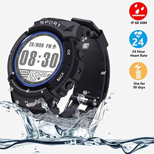 VIFLYKOO Smartwatch Fitness Tracker, Tracker attività IP68 164ft Impermeabile con pedometro e cardiofrequenzimetro, 6 modalità Multi-Sport, contacalorie, 30 giorni di lavoro [No Bluetooth]