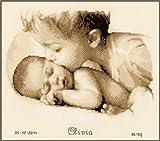 Vervaco PN-0150040 Ver - Tela Aida per Punto Croce Modello Amore fraterno