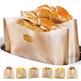 Non Stick Toaster Bags Reusable and Heat Resistant Easy to Clean,Perfect for Sandwiches Pastries...