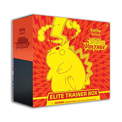 Pokémon Karten: Sword & Shield 4 Vivid Voltage Elite Pikachu, Trainingsbox