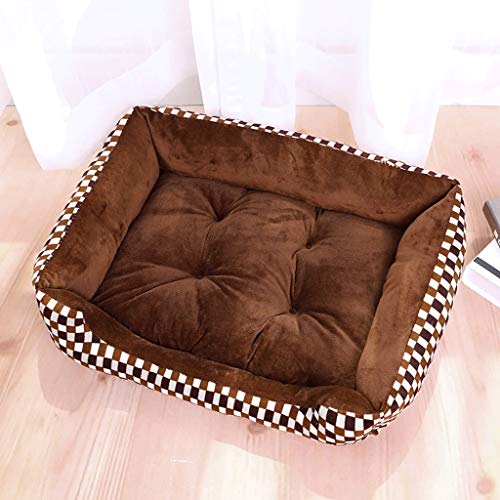 Pet Bed Cama para Perros Medium Small Dogs Camas para Mascotas Large Mat Dog House Seasons - Ultra Comfort Lavadoras de algodón A+ (Color : 2#, Tamaño : 70CM)