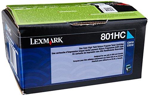 Lexmark 80C1HC0 Cyan High Yield Return Program Toner