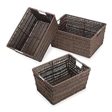 Whitmor Rattique Storage Baskets - Java (3 Piece Set)