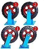 BJLWTQ CNC TORTHE, 4 Castor Wheels Heavy Duty Ruedas giratorias de Ruedas de Goma Ruedas for la Tabla de Muebles de la Carretilla de la Cama Banco de Trabajo, 12 Pulgadas de Ruedas (Azul)
