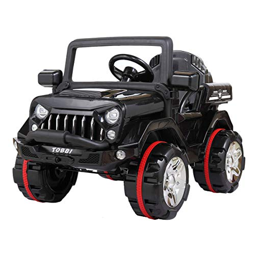 Kids 12V Electric Powered Truck Ride On SUV w/ RC Indoor Outdoor Driving Toy Vehicle Black