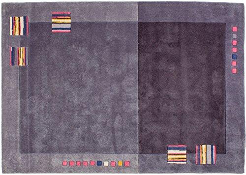 Lifetex.eu Designteppich Xian ca. 170 x 240 cm Grau handtuft Polyamid Modern hochwertiger Teppich