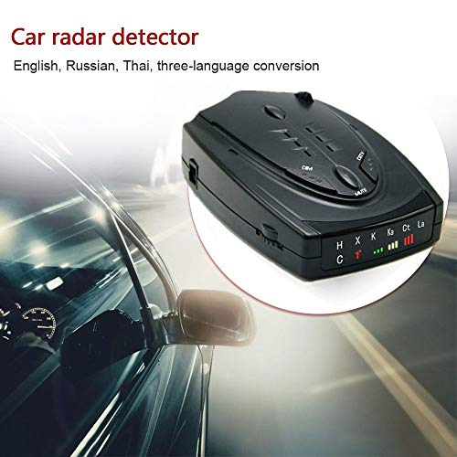 ZUEN 12V DC-Auto-Radar-Detektor Mit G-Sensor GPS-Anti-Radar Polizei Geschwindigkeit Automatisch X CT K La 360 Grad-Träger-16-Band LED-Anzeige,A