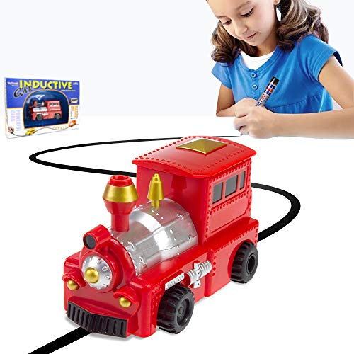 YoCosii Magic Inductive Train, Mini Magic Toy Truck Vehicles Follow The Black Line Fun Toy for Kids Gift (Batteries Included)